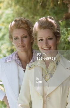Marlena Evans (Deidre Hall) and  her twin sister Samantha Evans (Andrea Hall) for who her daughter Sami Brady is named after!