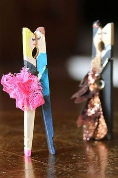 Clothes Pin Couple 35 Valentine's Day Crafts You Can Make With The Kids Using Stuff Around the House
