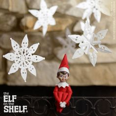Paper snowflakes | Elf on the Shelf Ideas