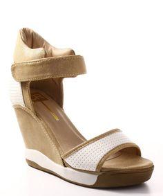 Look at this #zulilyfind! White Dana Wedge Sandal #zulilyfinds
