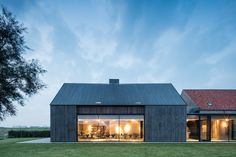 This Converted Bunker is the Perfect Blend of Architecture and History - Nordic Design Contemporary Barn, Modern Barn, Modern Farmhouse, Dona Carolina, Ste Marguerite, Bunker Home, Brick Siding, Prefab Cabins, Prefab Homes
