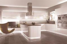Exclusive Design Home Kitchen Comfortable And Creative Ideas Efficient Minimalist Kitchen Cabinet Design Ideas In White Scheme With Strips Led Light