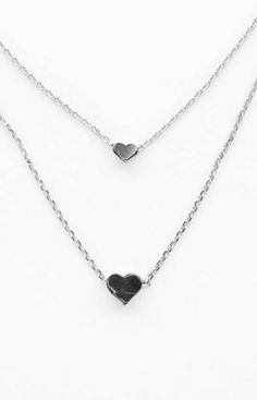 Two tiny floating hearts, layered on a delicate silver chain. Perfect not only for Valentine's Day, but for any day you're in the mood for love! $18