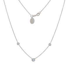 Tousi Jewelers Diamond Necklace Solitaire Pendant - Solid 14k White Gold - 0.20 ct White Stone – Free Disc Engraving-  April Birthstone Gift