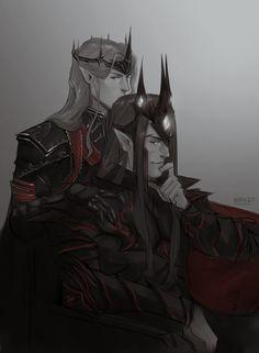 Melkor and Sauron by M0rket on DeviantArt