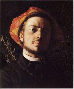 Portrait de Paul Verlaine, 1868, by Frederic Bazille