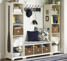 Bench and bookcase set from Pottery Barn