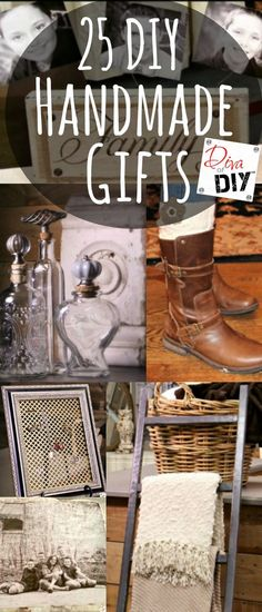 25 Handmade Gifts that are perfect for anything from Christmas Gifts to Birthdays! These easy DIY gift ideas are great gifts for your friends and family! Easy Homemade Gifts, Diy Food Gifts, Diy Gifts For Kids, Easy Gifts, Gifts For Family, Handmade Christmas Gifts, Christmas Diy, Handmade Gifts, Friend Birthday Gifts