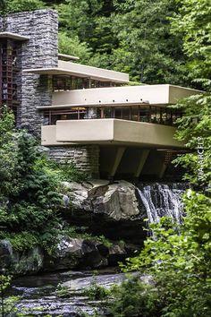 Imagenes de la casa de la cascada de frank lloyd wright