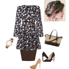 A fashion look from October 2016 featuring Yumi dresses, WearAll skirts and Nine West pumps. Browse and shop related looks.