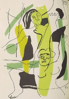 Fernand Léger - Untitled illustration in the book Source entière (Whole Source) by André Frénaud (Paris: Seghers, 1952), Lithograph.