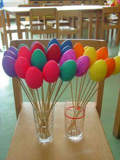 """Coloured Easter """"Foam"""" Eggs"""