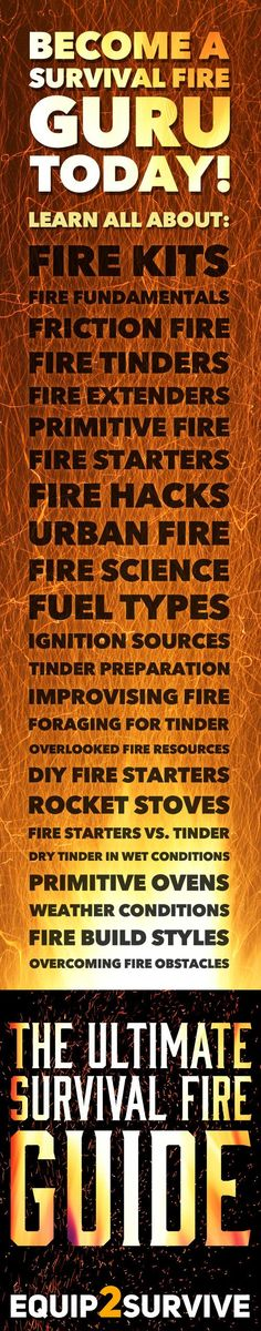 Become a SURVIVAL FIRE GURU today!! Learn all the tricks for creating fire in…