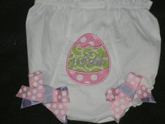 Easter Egg Monogrammed  Bloomers Diaper Cover by theroyalprincess, $14.00