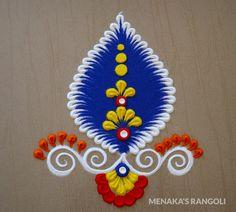 Easy Rangoli Designs Diwali, Rangoli Designs Latest, Rangoli Designs Flower, Small Rangoli, Rangoli Designs Images, Rangoli Ideas, Rangoli Designs With Dots, Beautiful Rangoli Designs, Housewarming Decorations
