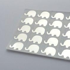 Silver Elephant Stickers