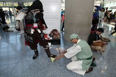 Anime Expo 2012: Cabbage vendor meets an Assassin by djwu, via Flickr