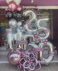 The best # feiertageundanlässe The best - Modern Birthday Balloon Decorations, Diy Halloween Decorations, Birthday Balloons, Halloween Diy, Balloon Display, Balloon Gift, Balloon Garland, Number Balloons, Helium Balloons