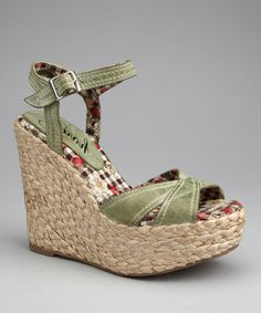 Take a look at this Green Leather Apple Pie Espadrille on zulily today! Cheap Shopping, Leather Espadrilles, Green Leather, Apple Pie, Shoes Sandals, Heels, Footwear, Comfy, Purses