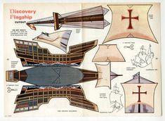 Vintage CHRISTOPHER COLUMBUS' FLAGSHIP SANTA MARIA Cut-Outs page 1967 uncut #PaperDolls