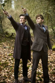 Matt Smith and David Tennant as the Doctor in the Day of the Doctor [from the DW Companion tumblr]
