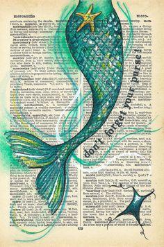 Meerjungfrauenschwanz - Jason Floyd DIY and Art Art Vampire, Vampire Knight, Real Mermaids, Mermaids And Mermen, Pics Of Mermaids, Mermaid Drawings, Mermaid Tail Drawing, Mermaid Tail Tattoo, Mermaid Paintings
