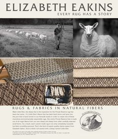 Elizabeth Eakins offers hand-hooked rugs made with care from natural fibers. Hand Hooked Rugs, Fabric Rug, Rug Hooking, Home Textile, Spinning, Hand Weaving, Runners, Medieval, Fabrics