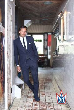 Henrik Lundqvist - plays hockey not football and has blue not brown eyes - but is my mental picture of Josh in Forever And A Day.