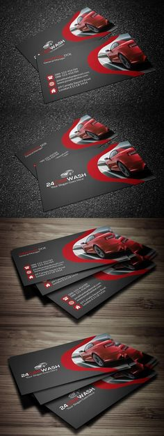 Car Wash Business Card. Creative Business Card Templates