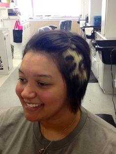 Leopard print hair Hair Stenciling, Leopard Print Hair, Hair Tattoos, Hair Color And Cut, Glitz And Glam, Cosmetology, Hair Designs, Hair Colors, Updos