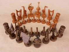Musician's chess pieces