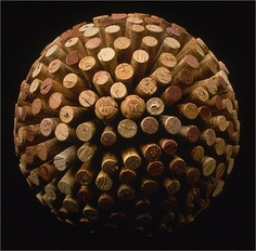 Wine Cork Ball. Would look cool hanging from ceiling