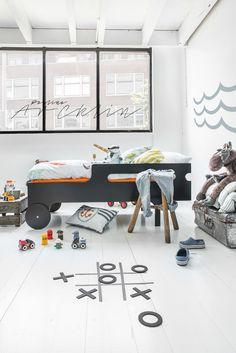 piraten kids room - Rafa-kids toddler bed & Moshi Moshi kids bedding © Paulina Arcklin Photography + Styling