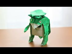 【折り紙 / origami】「河童」ができるまで - YouTube Origami Tutorial, Fictional Characters, Youtube, Fantasy Characters