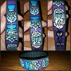 This is a hand painted magic band. The price includes one magic band with the design as pictured or any choice of character. This band also glows in the dark! You can also mail me your magic band and I will charge $20 to paint this design or character requested. Please e-mail me at candysan@li...