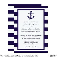 Home Remodel Living Room Nautical Anchor Navy Stripe Bridal Shower Invitation.Home Remodel Living Room Nautical Anchor Navy Stripe Bridal Shower Invitation Nautical Wedding Invitations, Rehearsal Dinner Invitations, Engagement Party Invitations, Elegant Invitations, Bridal Shower Invitations, Wedding Rehearsal, Invitation Cards, Invitation Ideas, Invitation Templates
