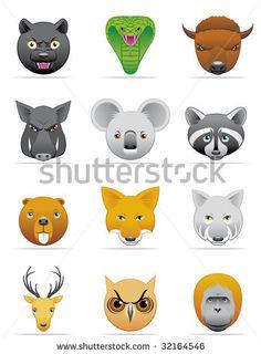Wild animals icons by Kar, via Shutterstock