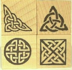 Celtic Knot Mini Stamp Set of Four Boxed by Triskelt on Etsy