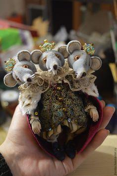 """Купить Мышиный король"""" () - серый, щелкунчик, новый год 2015, новогодние игрушки, новогодний подарок"""