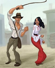 Indiana Jones and Marion by Neanderthal-Jam on deviantART