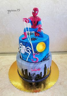Star Wars Cookies, Occasion Cakes, Food Art, Spiderman, Cake Decorating, Wedding Cakes, Special Occasion, Birthday Cake, Desserts