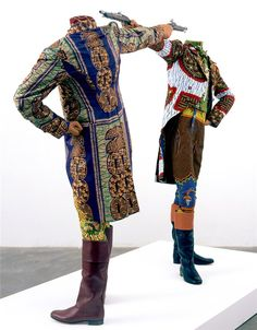 <3 African textiles purposed for brilliant Neo-Regency fashion by Yinka Shonibare.