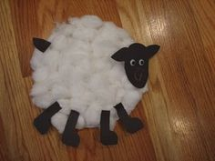 fuzzy sheep- Little Bo Peep, Mary Had a Little Lamb
