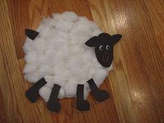 fuzzy sheep- Little Bo Peep, Mary Had a Little Lamb