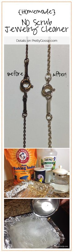 Homemade (no scrub) Jewelry Cleaner! - ***For White Metals*** (details on www.PrettyGossip.com )