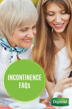 Have some basic questions about incontinence or Depend® incontinence products? This list of Incontinence FAQs will help you learn more about bladder basics, causes of leaks and the different types of incontinence you may be dealing with. If you feel uncomfortable talking with others about your condition, this is a great first step to get you on the road to managing bladder leakage.