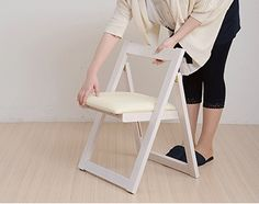 (Folding Chair Only 1 Leg For 2 Color) Natural Wood Chairs Folding!  Urethane With Synthetic Leather Chair Chair Chair Completed Wood Dining  Furniture, ...