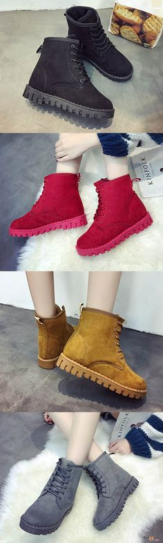 US$32.99+ Free shipping. Winter Lace Up Suede Keep Warm Casual Ankle Snow Boots. shoes boots, boots outfit, womens boots, winter boots, heel boots, hunter boots, riding boots, boots fall 2017. Buy now!