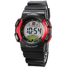 Red Boys Girls Students Digital Watch for Kids * Want additional info? Click on the image. (Note:Amazon affiliate link)