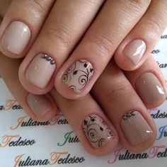 Pink Gel Nails, Glittery Nails, Nude Nails, Hair And Nails, My Nails, Special Nails, Disney Nails, Short Nails, Manicure And Pedicure